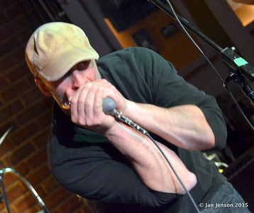 Stress Test at Charlotte Blues Society First Sunday - March 2015 Mike Crowley - harmonica & vocals