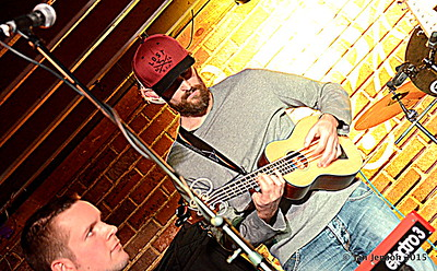 Stress Test at Charlotte Blues Society First Sunday - March 2015 Matt Branniff - keyboard & Flavio Mangione - ukelele bass