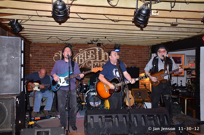 Sound check before the show starts - Chuck Johnson CD Release Party 11-30-12