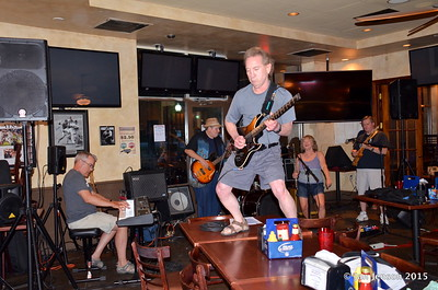 Blues jam @ Beantown 6-14-15 - Scott McFarlane,John Mock, Ken Dudzik, Debbie, and Kevin Scruggs