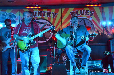 Richard Strube, Jim Snyder, Darren Wachman Shades Of Blue - Rockin' Blues Jam @ Stooges, Mint Hill, NC 6-17-15