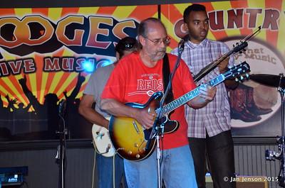 Richard Strube, Jim Snyder, Emanual Wynter Shades Of Blue - Rockin' Blues Jam @ Stooges, Mint Hill, NC 6-17-15
