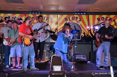 Richard Strube, Roger Kolfta, Jim Snyder, Emanual Wynter, Dillon Shammond, Ron Sheehan Shades Of Blue - Rockin' Blues Jam @ Stooges, Mint Hill, NC 6-17-15