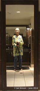 """Jan Jenson's """"selfie"""" in the bathroom mirror!"""