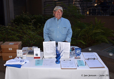 Rick Ballew at Charlotte Blues Society table  6-1-14