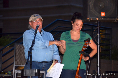 Rick Ballew and Kate - event coordinator at Rock Bottom Cafe