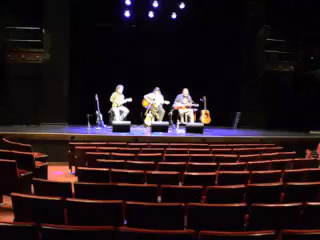 Chuck Johnson - soundcheck at McGlohon Theater - before opening for Keb Mo. on Saturday, December 8, 2012.