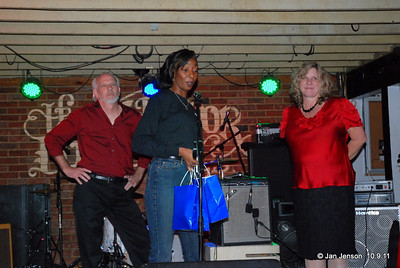 Bill Miller, Jeri Thompson and Nita Belk.  Jeri is announcing the winner of the CBS band talent compeition tonight.  Bill Miller is the winner and will represent CBS in Memphis in early winter!  Congratulations Bill and band members.  And GOOD JOB too NIta and everyone in her group!  They just returned from the Pleasure Island Blues Festival that same weekend!