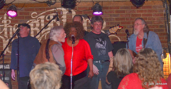Chocolate Thunder singing with the Part Time Blues Band and Rick Ballew