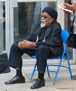 Pop Ferguson Blues Festival - June 9, 2012 - Lenoir, NC Drink Small - waiting behind the stage for his time to play.