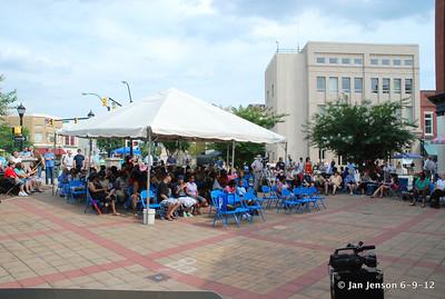 Pop Ferguson Blues Festival - June 9, 2012 - Lenoir, NC the early crowd - while it was still HOT!