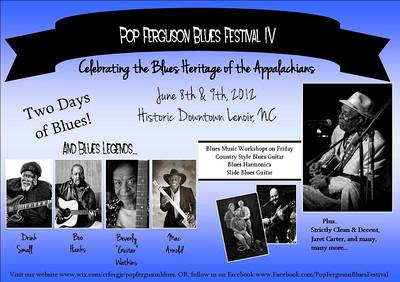 Pop Ferguson Blues Festival - June 9, 2012 - Lenoir, NC