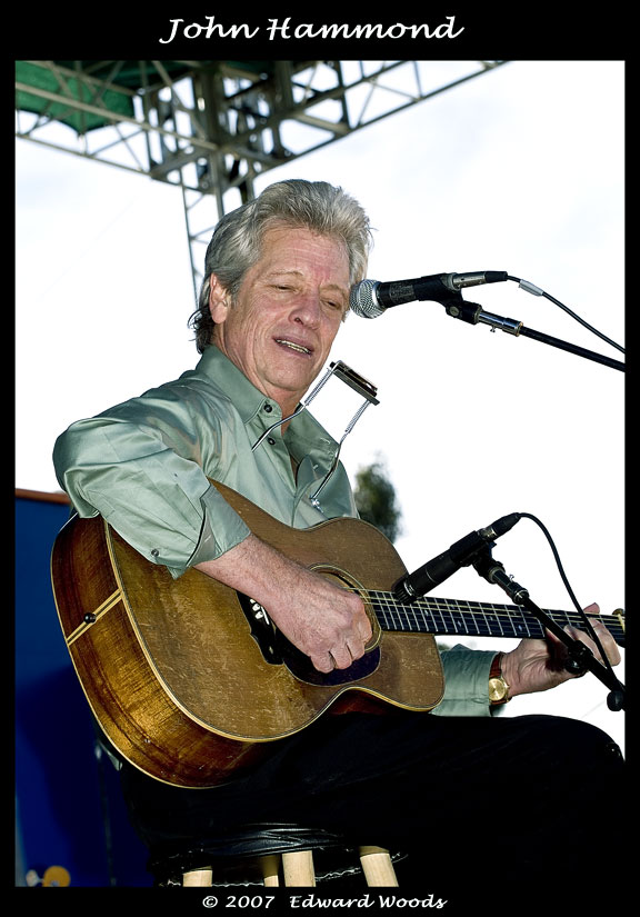John Hammond at the 2007 San Francisco Blues Festival.