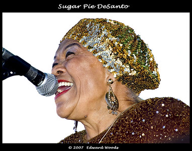 Sugar Pie DeSanto at the 2007 San Francisco Blues Festival.