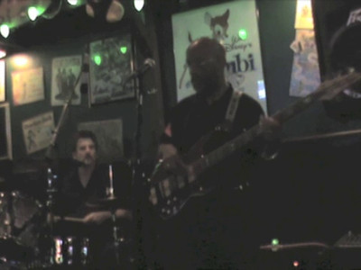 """VIDEO - click on arrow in center of pic to play! Sonny Skyyz and the Rainmakers at Big Al's Pub & Gruberia in Mooresville, NC. playing/singing """"Rainy Night in Georgia."""""""