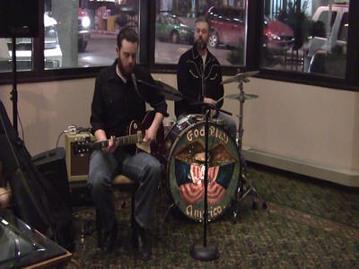 Bad Luck City (Matt Woods & Michael Swanger) played in the atrium.