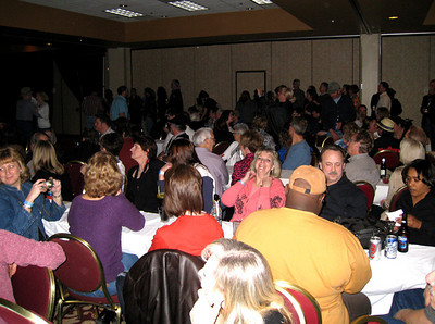 The crowd in one of the rooms.