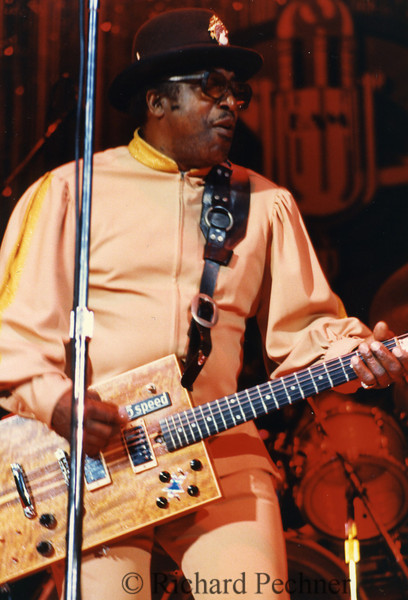 Bo Diddley preforming for the 9th Annual Bammies, San Francisco, CA, 3/15/1986