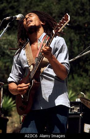 BOB MARLEY Jamaican reggae musician