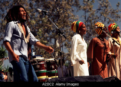 BOB MARLEY AND THE WAILERS Jamaican reggae musician