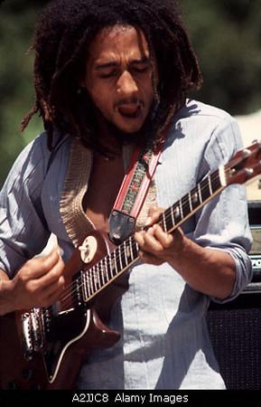 BOB MARLEY Jamaican reaggae musician
