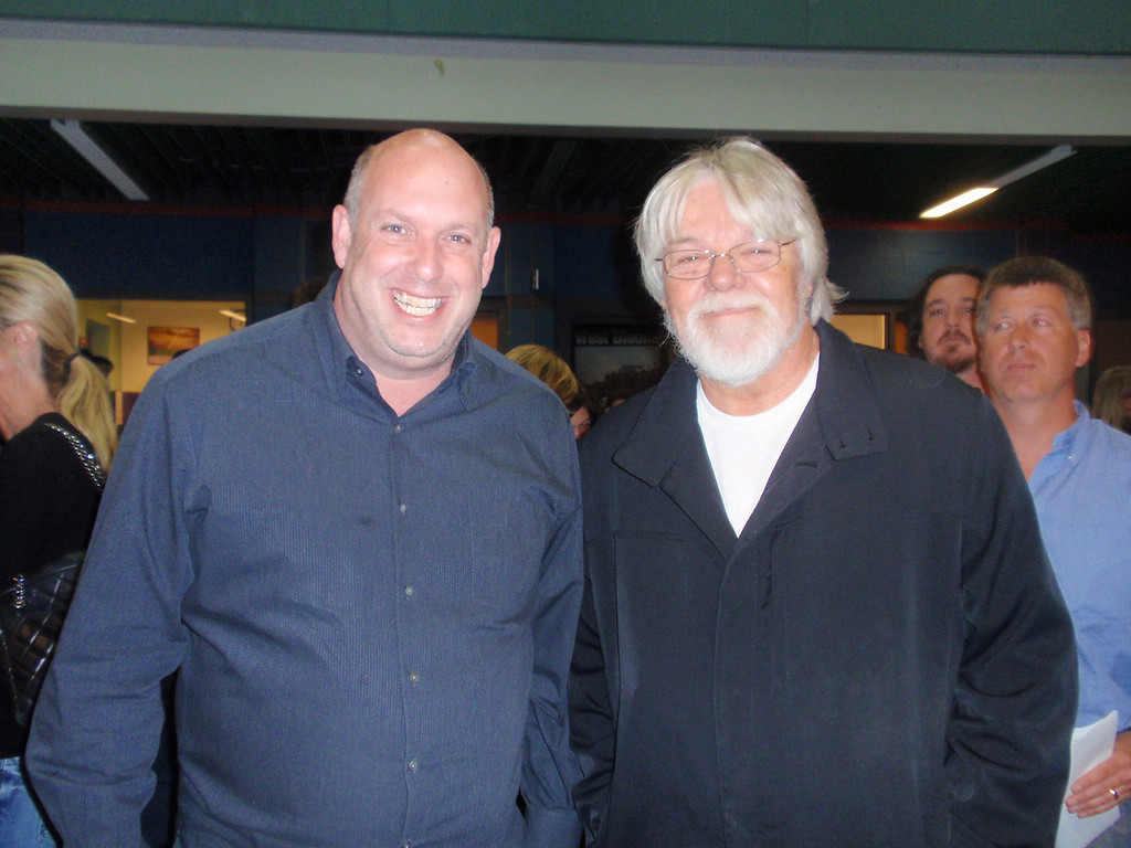 . Jeff Sakwa, raffle organizer and Bob Seger at Save Our Schools raffle for West Bloomfield schools.