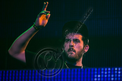 """HOLLYWOOD, CA - DECEMBER 08:  DJ Borgore performs at his """"Christmas Creampies"""" concert at Henry Fonda Theater on December 8, 2012 in Hollywood, California.  (Photo by Chelsea Lauren/WireImage)"""