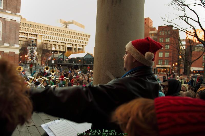 Mick's conducting the ensemble