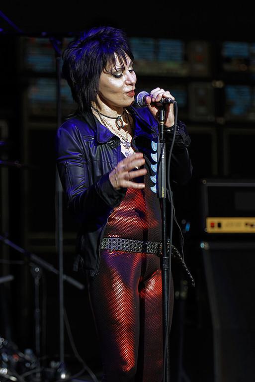 . Joan Jett & The Blackhearts live at DTE on 7-9-2017. Photo credit: Ken Settle