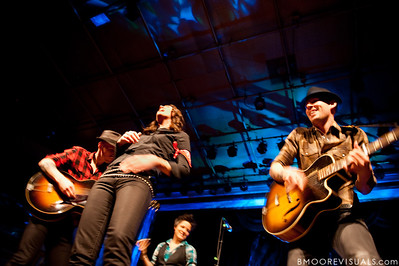 Tim Hanseroth, Brandi Carlile, Allison Miller, and Phil Hanseroth perform on February 18, 2010 at Capitol Theatre in Clearwater, Florida