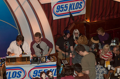 BWTB_lp_050210_1032  Former 80's Dramarama rock band member Chris Carter hosts weekly Beatles themed radio show Breakfast With The Beatles on KLOS-FM. The show was broadcast live at The Laugh Factory comedy club in West Hollywood CA 05/02/2010.  Albino rock musician Edgar Winter is pictured in the crowd.
