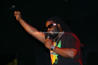 Reggae artiste Gramps Morgan performing in Charlotte, N.C. July 11th, 2009
