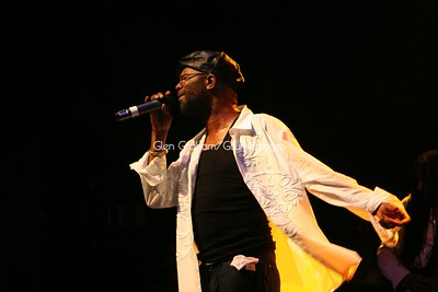 Reggae artiste Beres Hammond performing in Charlotte, July 11th, 2009
