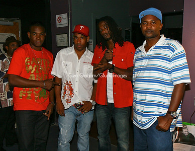 Reggae Star Gyptian (3rd from left) made a stop to see the Wailers ahead of his concert in Greensboro