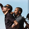 BE0530BSTOCK03<br /> Air Dubai's vocalists  Julian Thomas, left,  and Jon Shockness perform during Thursday's Broomstock 2010 at the Broomfield County Commons.  Air Dubai won the contest to open for One Republic performing after Broomstock.<br /> May 27, 2010<br /> Staff photo/ David R. Jennings