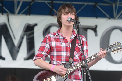 Kyle Hagele lead vocals and guitar for 'Calibrate Me' performs during Broomstock at the Broomfield County Commons Park on Thursday. May 26, 2011 staff photo/David R. Jennings