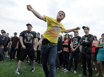 Fans dance to the music during Broomstock at the Broomfield County Commons Park on Thursday. May 26, 2011 staff photo/David R. Jennings
