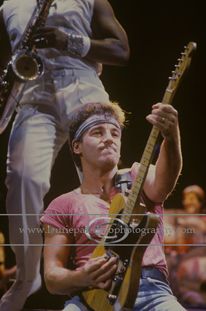 BS_lp_082085_1003<br /> Bruce Springsteen and The E Street Band Perform Live in Concert at Giants Stadium in New Jersey  08.20.1985. Mandatory photo credit: ©Laurie Paladino