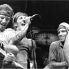 81614_19<br /> <br /> Multiple images of Bruce Springsteen over two frames of 35mm film taken August 8, 1984 at Bryne Meadowlands Arena during Bruce Springsteen's Born In The USA Tour. Also pictured is E Street Band member Nils Lofgrin
