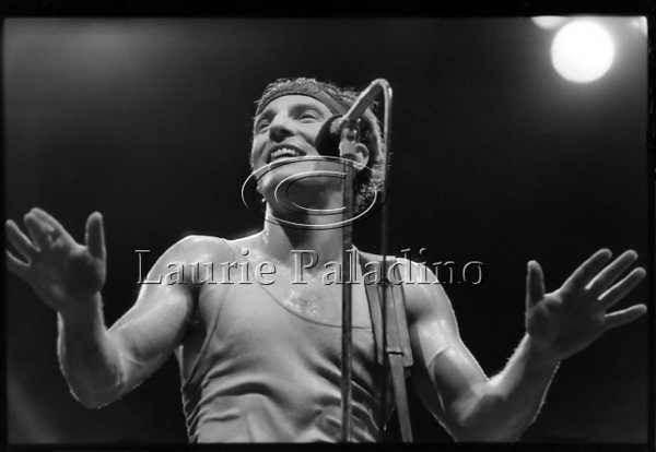81684_9<br /> <br /> Bruce Springsteen and the E Street Band perform live in concert at the Meadowlands Arena in New Jersey on August 16,1984 on the Born In The USA Tour. Photograph by Laurie Paladino.