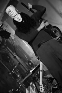 Buckethead (aka Brian Patrick Carroll) shows off his sweet nunchuck skills between songs!