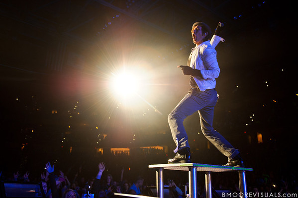 Jason Roy of Building 429 performs on January 14, 2012 during Winter Jam at Tampa Bay Times Forum in Tampa, Florida