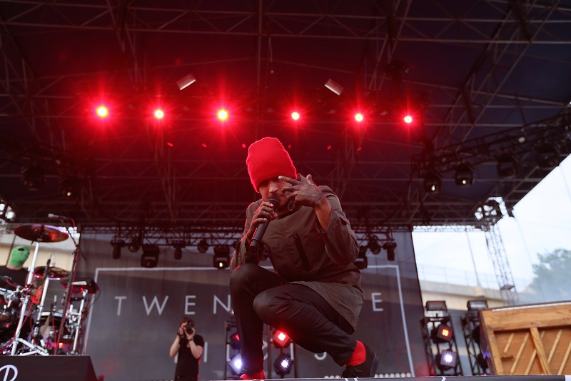 Twenty One Pilots of Columbus, Ohio rocked out in front of thousands on the last day of the 2015 Bunbury Music Festival at the Sawyer Point Stage in Cincinnati on Sunday, June 7, 2015. Emily Maxwell | WCPO Bunbury Music Fest on June 7, 2015.