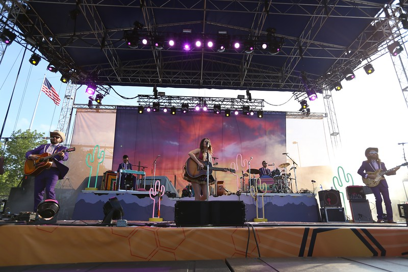 Country artist and Grammy winner Kacey Musgraves performed at the Yeatman's Cove stage during the second day of the 2015 Bunbury Music Festival at Sawyer Point and Yeatman's Cove in Cincinnati on June 6, 2015. Emily Maxwell | WCPO Bunbury Music Fest on June 6, 2015.