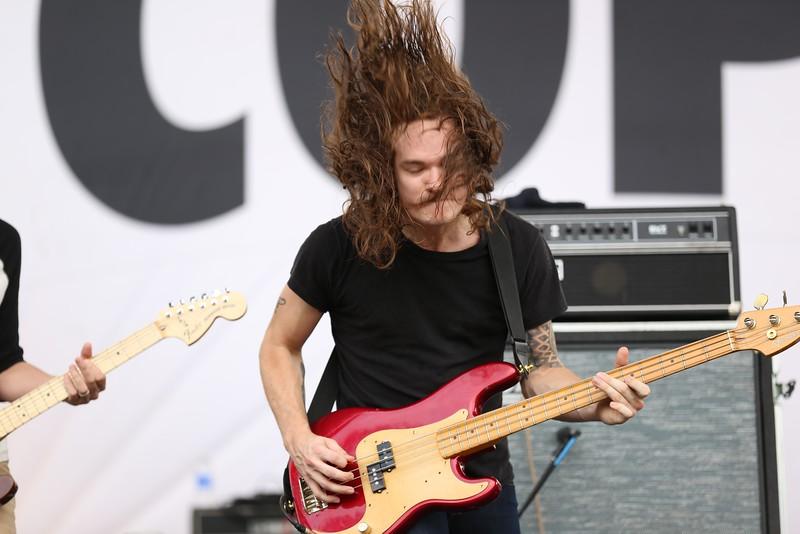 Indie rock group Manchester Orchestra performed at the Yeatman's Cove Stage in front of thousands on the last day of the 2015 Bunbury Music Festival in Cincinnati on Sunday, June 7, 2015. Emily Maxwell | WCPO Bunbury Music Fest on June 7, 2015.
