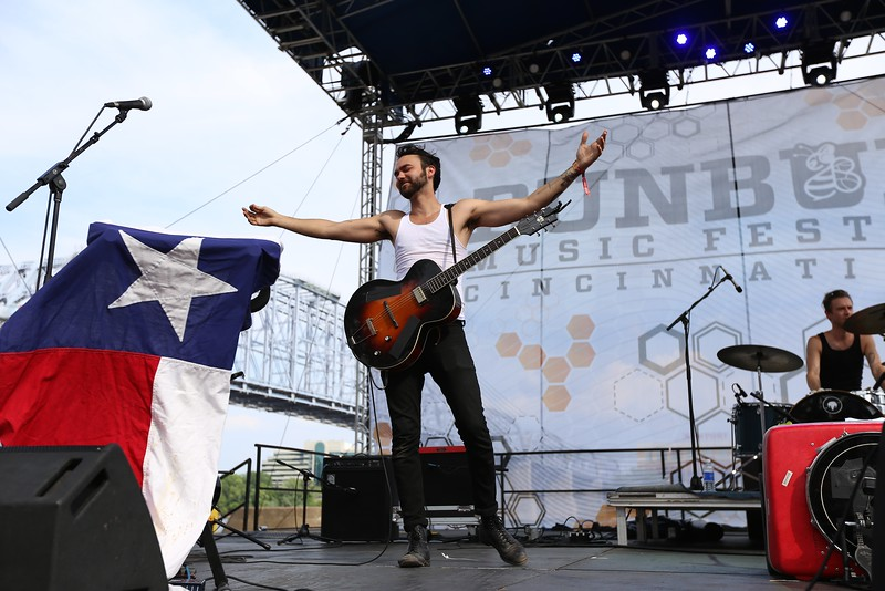 Austin-based artist Shakey Graves performed in front of a packed house at the River Stage on the last day of the 2015 Bunbury Music Festival in Cincinnati on Sunday, June 7, 2015. Emily Maxwell | WCPO<br />  Bunbury Music Fest on June 7, 2015.