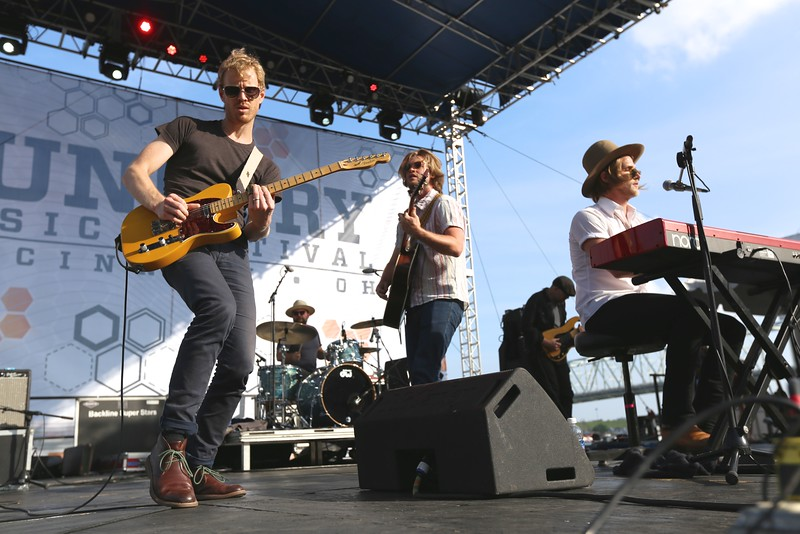 Texas group Jamestown Revival performed at the River Stage during the second day of the 2015 Bunbury Music Festival at Sawyer Point and Yeatman's Cove in Cincinnati on June 6, 2015. Emily Maxwell | WCPO<br />  Bunbury Music Fest on June 6, 2015.