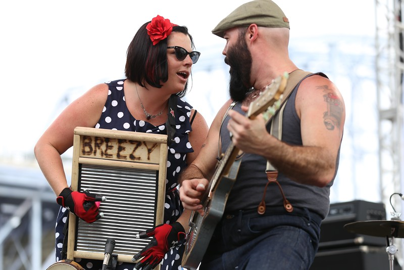 Indiana group The Reverend Peyton's Big Damn Band performed in front of thousands on the last day of the 2015 Bunbury Music Festival in Cincinnati on Sunday, June 7, 2015. Emily Maxwell | WCPO