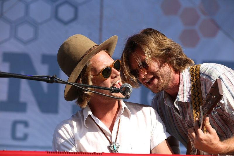 Texas group Jamestown Revival performed at the River Stage during the second day of the 2015 Bunbury Music Festival at Sawyer Point and Yeatman's Cove in Cincinnati on June 6, 2015. Emily Maxwell | WCPO<br />  Bunbury Music Fest on Sat. June 6, 2015.