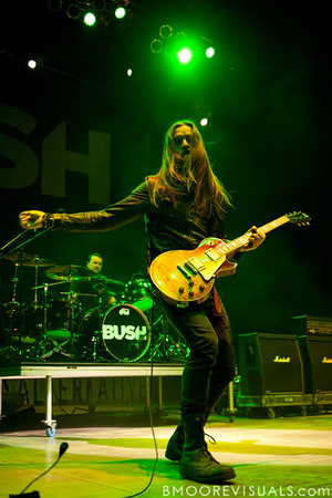Chris Traynor of Bush performs on December 3, 2011 during 97X Next Big Thing at 1-800-ASK-GARY Amphitheatre in Tampa, Florida
